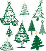 Collection of Christmas tree symbols and icons