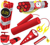 Clip art of dynamite and bundled explosives