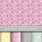 4 Beautiful pastel seamless patterns tiling Endless universal vector texture can be used for wallpaper pattern fills web page background texture wrapping paper Monochrome geometric ornaments