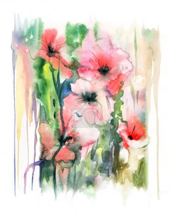 花卉水彩插画