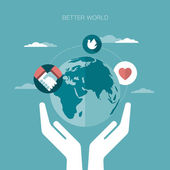 Vector concept illustration of better world