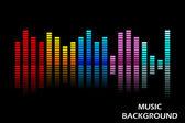Facile da modificare illustrazione vettoriale di equalizzatore musica