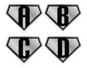 Alphabet set abcd