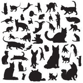 Collection of cat silhouettes