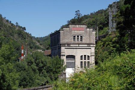 Постер, плакат: Old hydroelectric facilities, холст на подрамнике