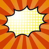 Comic Speech yellow Bubble Vector illustration
