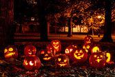 Osvětlené dýně halloween