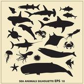 Vector EPS sea animals