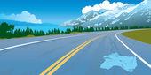 Táj közúti baleset veszély hegyek út