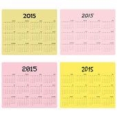 Calendar for 2015 on background Vector illustration
