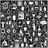 White icons on black background theme cleaning