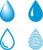 Vektor-Wasser-Tropfen-Icon-set