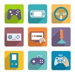 Постер, плакат: Video Games Controller Icons Set