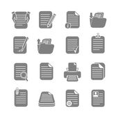 Documents folders and files written or printed icons set isolated vector illustration