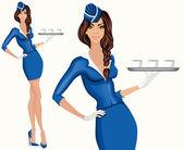Junge Frau stewardess