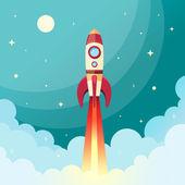 Kosmická raketa tisk