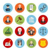 Törvény lapos ikonok