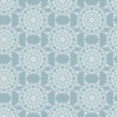 Seamless elegant detailed lace snowflakes pattern