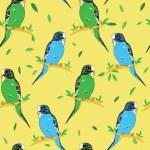 Постер, плакат: Texture with parrots