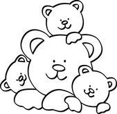 Teddy bear family illustration