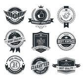 Set of vintage badges and labels vector illustration