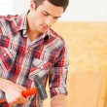 ������, ������: Handyman hammering nail