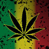 Illustration of cannabis as a symbol on abstract background