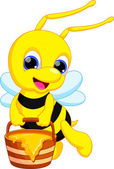 Illustration of cute bee cartoon