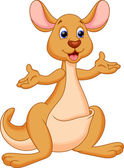 Illustration of a cute and adorable kangaroo cartoon