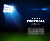 Football background with green field spotlight and place for text