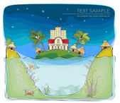 Beach Hotel on the paradise island, Happy world collection