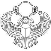 Silhouette logo scarab vector illustration clip art