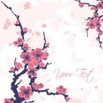 Постер, плакат: Abstract background with sakura