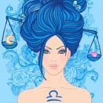 Постер, плакат: Libra zodiac sign as a beautiful girl