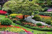 Butchart zahrady Brentwoodu zátoce poblíž victoria vancouver island Britské Kolumbie, Kanada