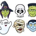 Постер, плакат: Halloween Character Icons