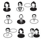 Emberek ikonok: férfi, nő, menedzser