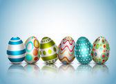 Illustrazione vettoriale di sfondo Pasqua. Eps10. contiene opacità e trasparenza