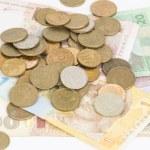 Постер, плакат: Russian and Ukrainian money