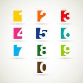 Number set vector illustration