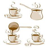 Turecká káva vektor