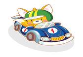 Vicces rajzfilm mókus autóval