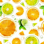 Orange and lime slices summer composition of fruits and vitamins orange and green color of your fantasies! handiwork