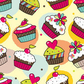 Sweet cake Seamless pattern Vector