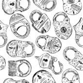 Pattern with a padlocks vector illustration