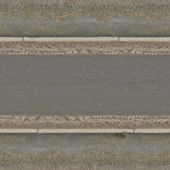 Texture of grey, asphalt road with clean surface and wet sand on edges.