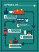 Airport guide info graphicvector illustration