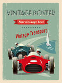 RETRO DISTRESSED GRAND PRIX POSTER WITH SAMPLE TEXT