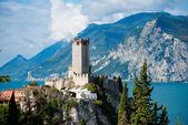 Středověké scaligero hradu v malcesine, Itálie, jezero garda