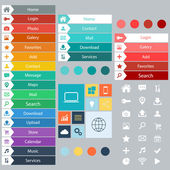 Flat Web Design elements buttons icons Templates for website in vector format